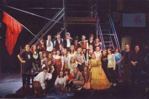 The cast of Les Miserables December 2008