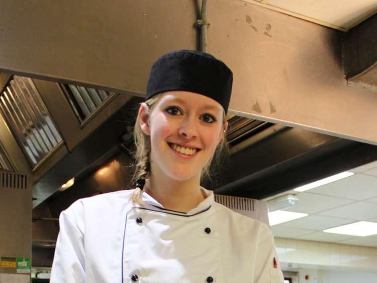 Professional Cookery apprentice Chloe Gardner