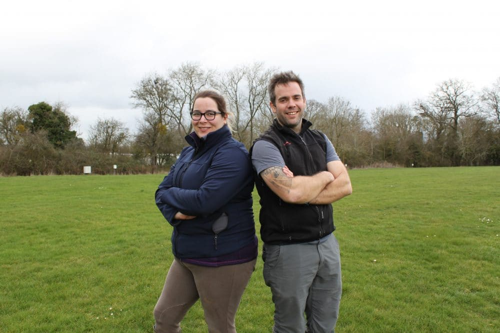 Apprentice Lauren Stanley with Peter Wharton