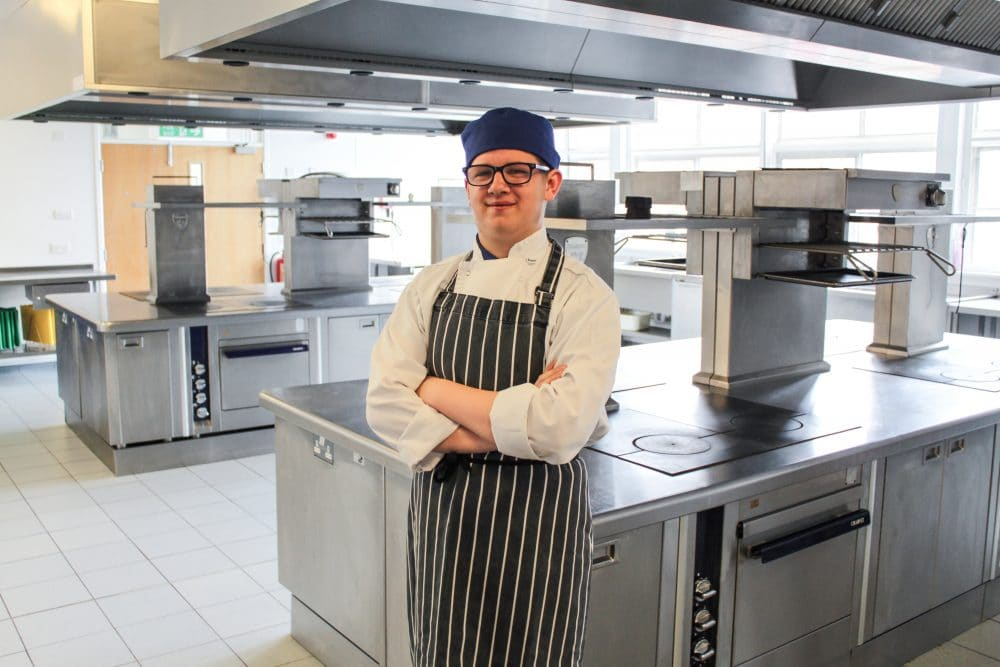 Catering student Thomas Shekells