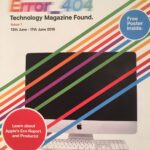 Front cover of a colourful Apple-themed magazine.