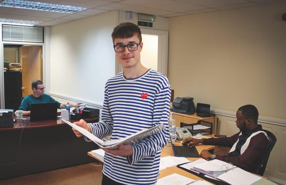 student on apprenticeship