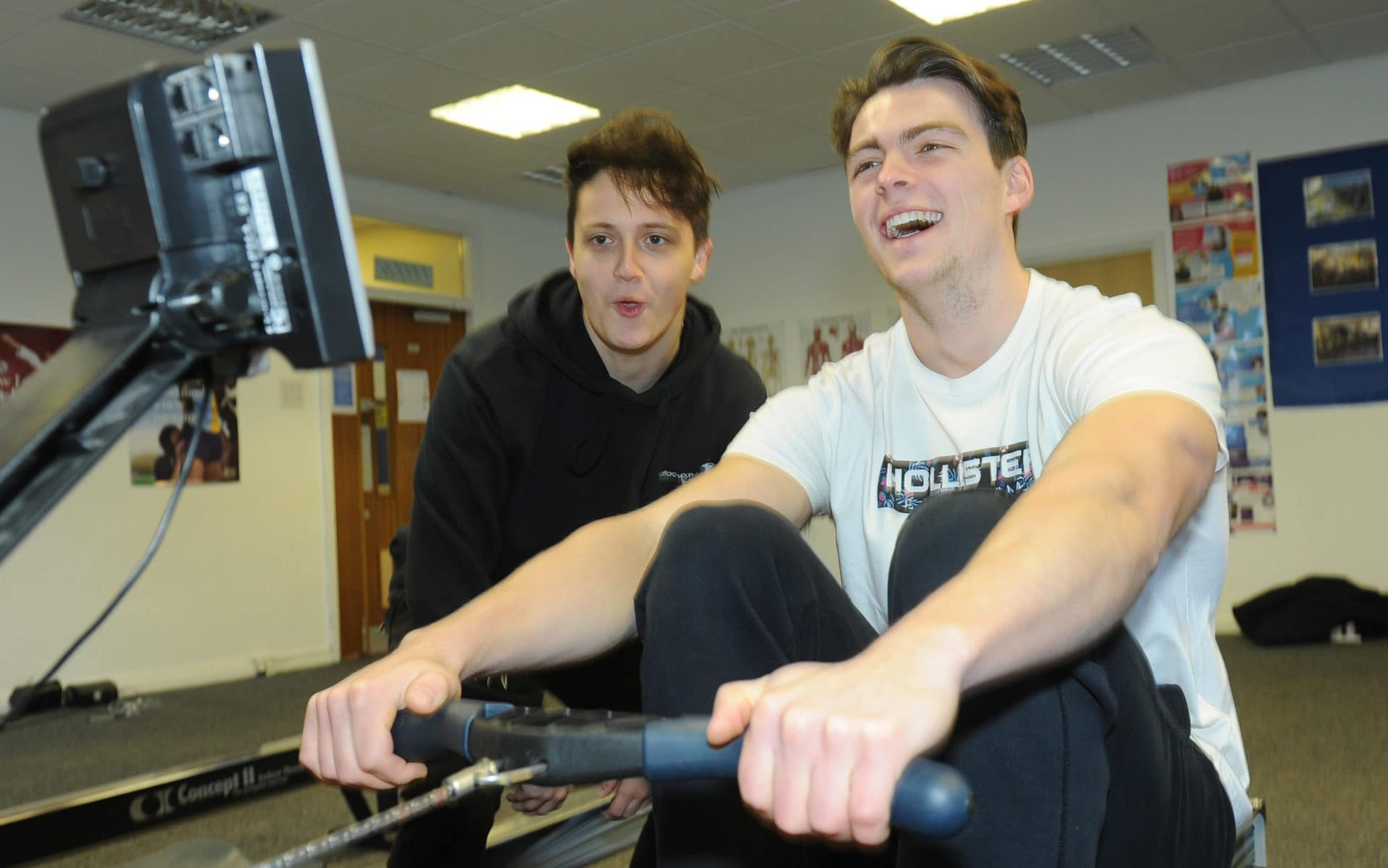 Students in the gym