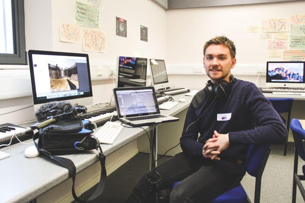Film and video game industry sound designer Jack Sandall