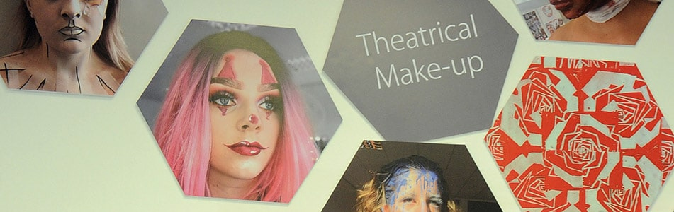 Images of Theatrical Make-up students work