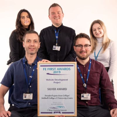 Members of the Stratford-upon-Avon College Marketing and IT teams