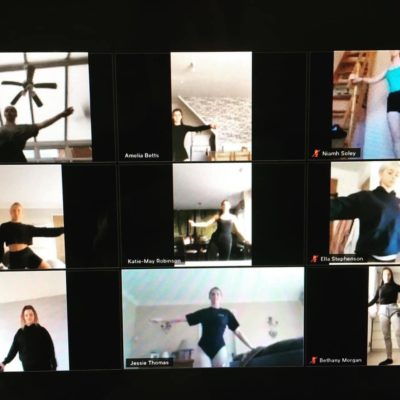 Remote learning ballet class