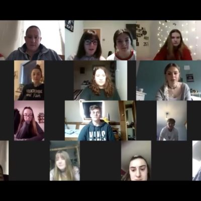Remote learning singing lesson