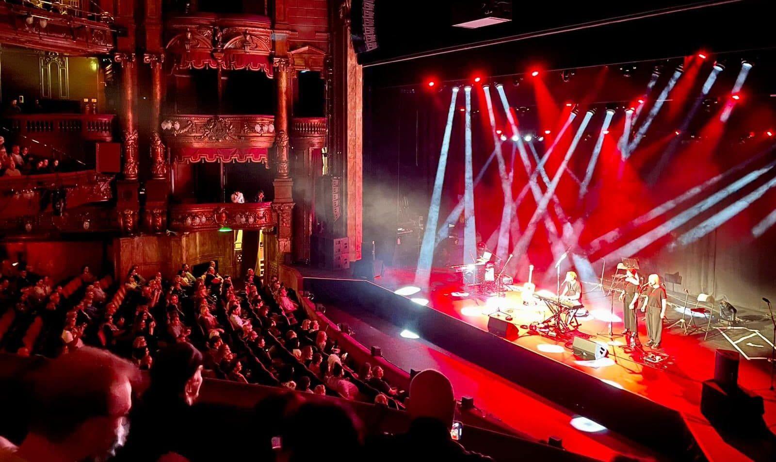 Isaac on stage at the London Palladium