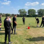 Public Services students taking part in teambuilding exercises