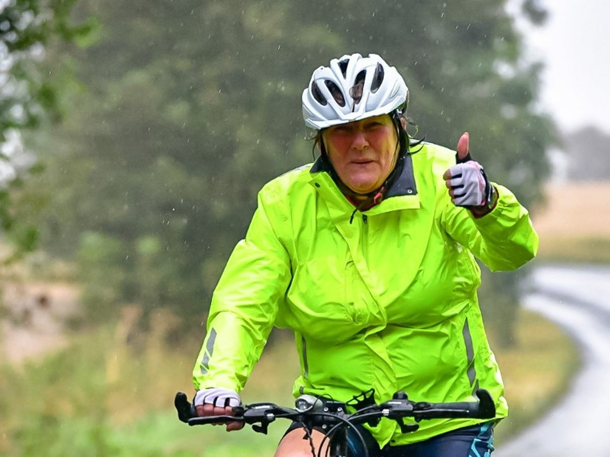 Sarah on bike
